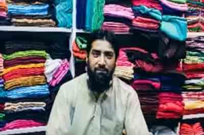 Fabric wholesaler in Azam Cloth Market