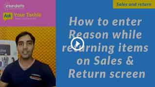 candela-how-to-enter-reason-while-returning-items-on-sales-&-return_screen