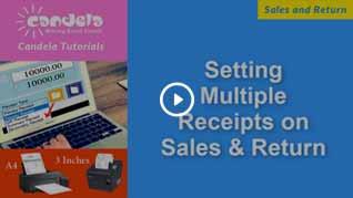 setting multiple receipts on sales & return